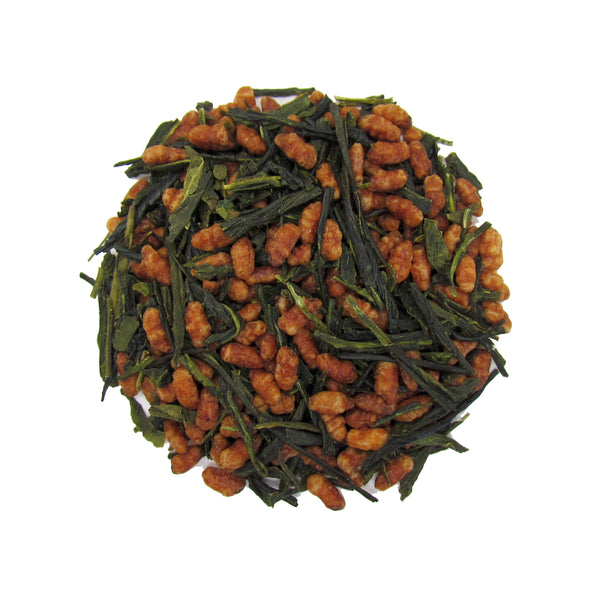 Genmaicha Japanese Green Tea with Organic Sencha Green Tea and Roasted Rice