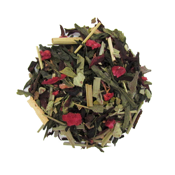 Huckleberry and Sage Green Tea with Wild Blueberries and Raspberries