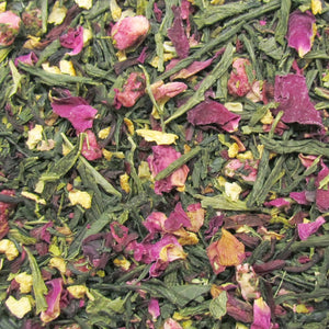 Lemon Pomegranate Organic Green Tea with Pomegranate and Rose