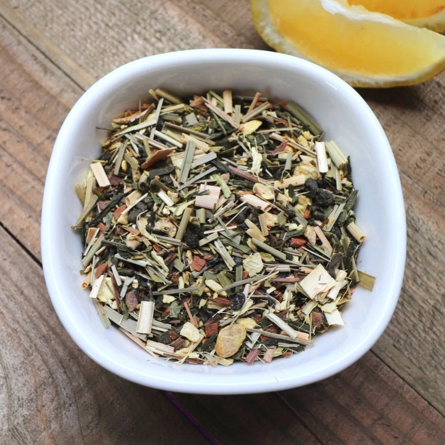 Lemon Ginger Green Tea with Organic Ginger Root by Lamie Wellness Tea Co.