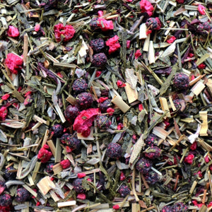 Wild Berry and Sage Organic Loose Leaf Green Tea by Lamie Wellness Tea Co