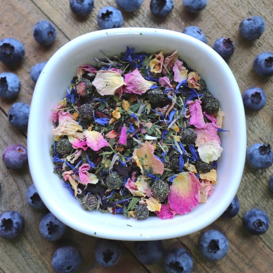 Blueberry Detox Herbal Tea with Cleansing Nettle Leaf and Organic Milk Thistle