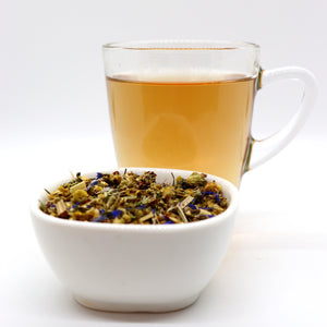 Relaxing Herbal Tea with Valerian and Mint Tea Sleeping Bear by Lamie Wellness Tea Co