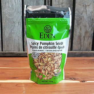 Eden - Pumpkin Seeds - Spicy, Dry Roasted, with Tamari