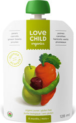 Love Child Organics - Super Blends, Pears, Carrots, Green Beans & Prunes, Organic (6+ months)