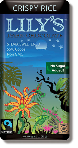 Lily's Sweets - Stevia Sweetened Chocolaty Candy Bar - Dark Crispy Rice