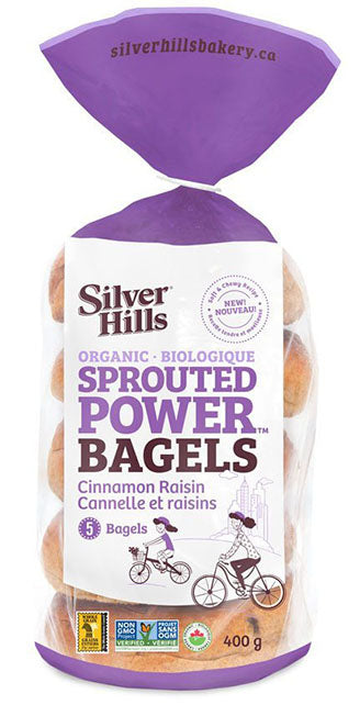 Silver Hills - Sprouted Power Bagels - Cinnamon Raisin