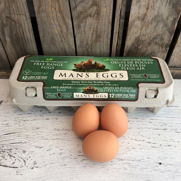 Mans Eggs - Free Range - Local