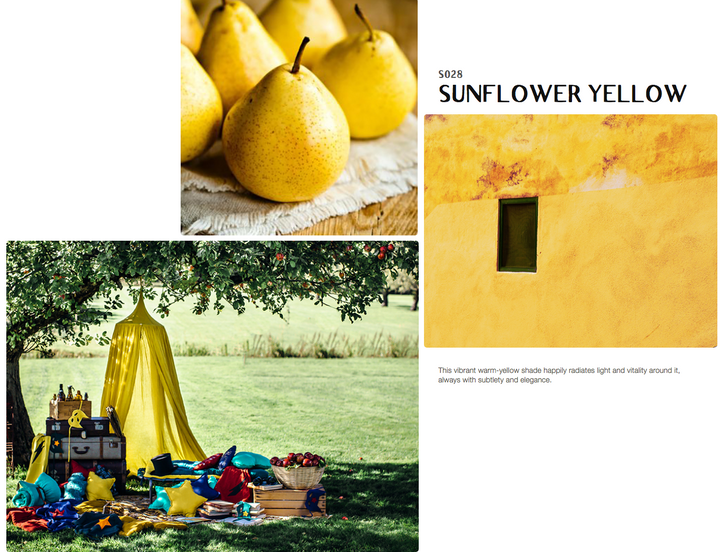Colour inspiration SUNFLOWER YELLOW