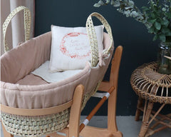 Moses Basket set in peach blossom by Camomile London - Poeme Lifestyle