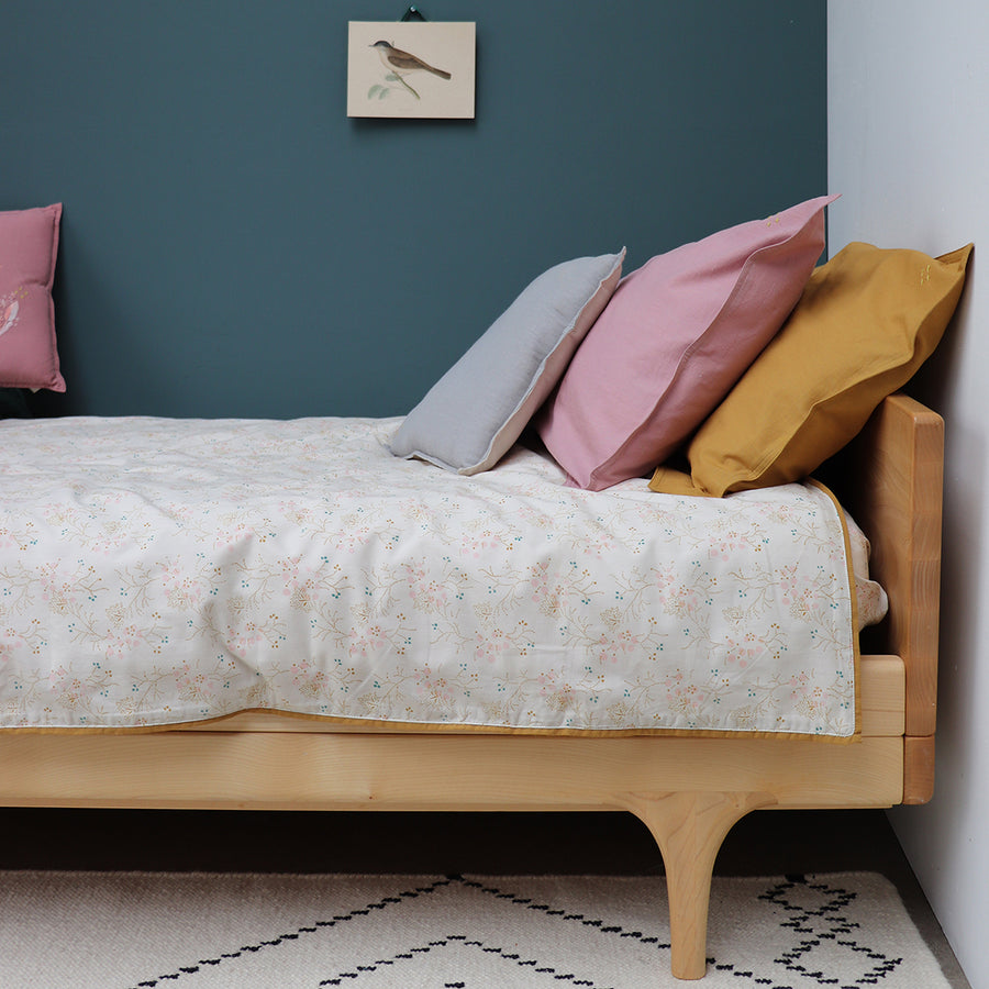 Single Quilt Cover in Minako Gold | Camomile London - Poeme Lifestyle