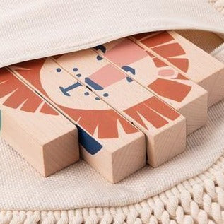 Wooden blocks - Wild Animals