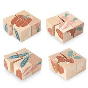 Wooden Blocks - Veggies