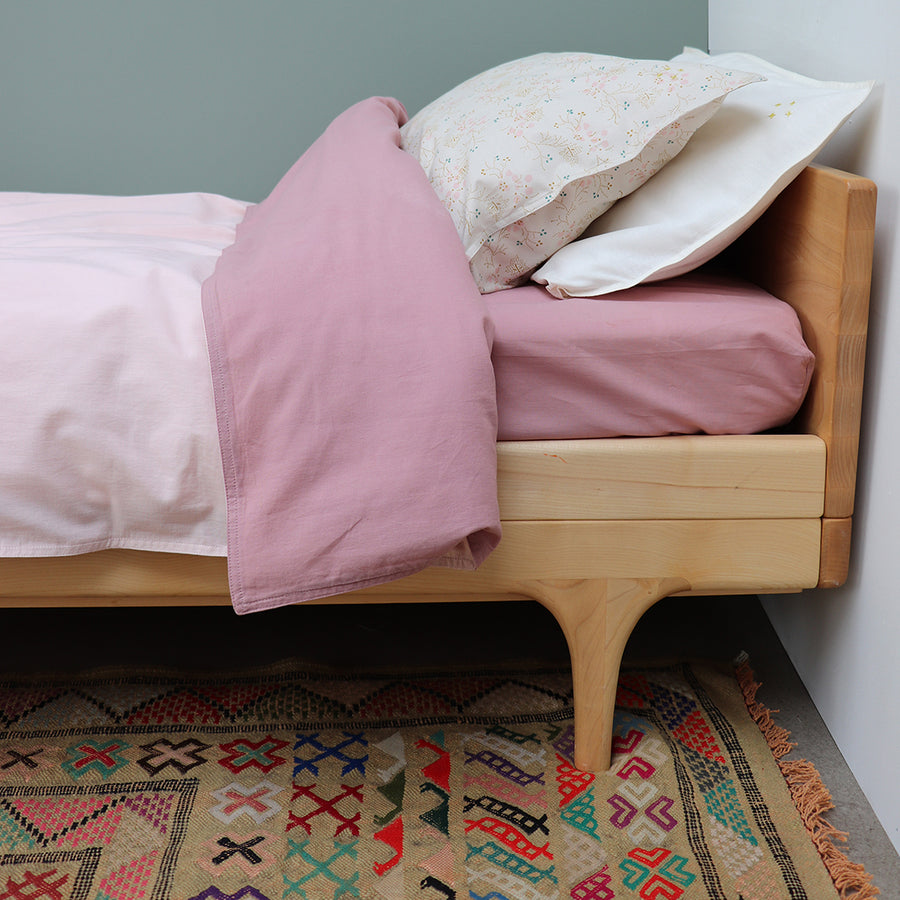 Camomile London King Single Quilt Cover - Blush/Pink Reversible