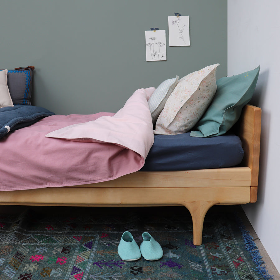 Single Quilt Cover in Pink/Blush | Camomile London - Poeme Lifestyle