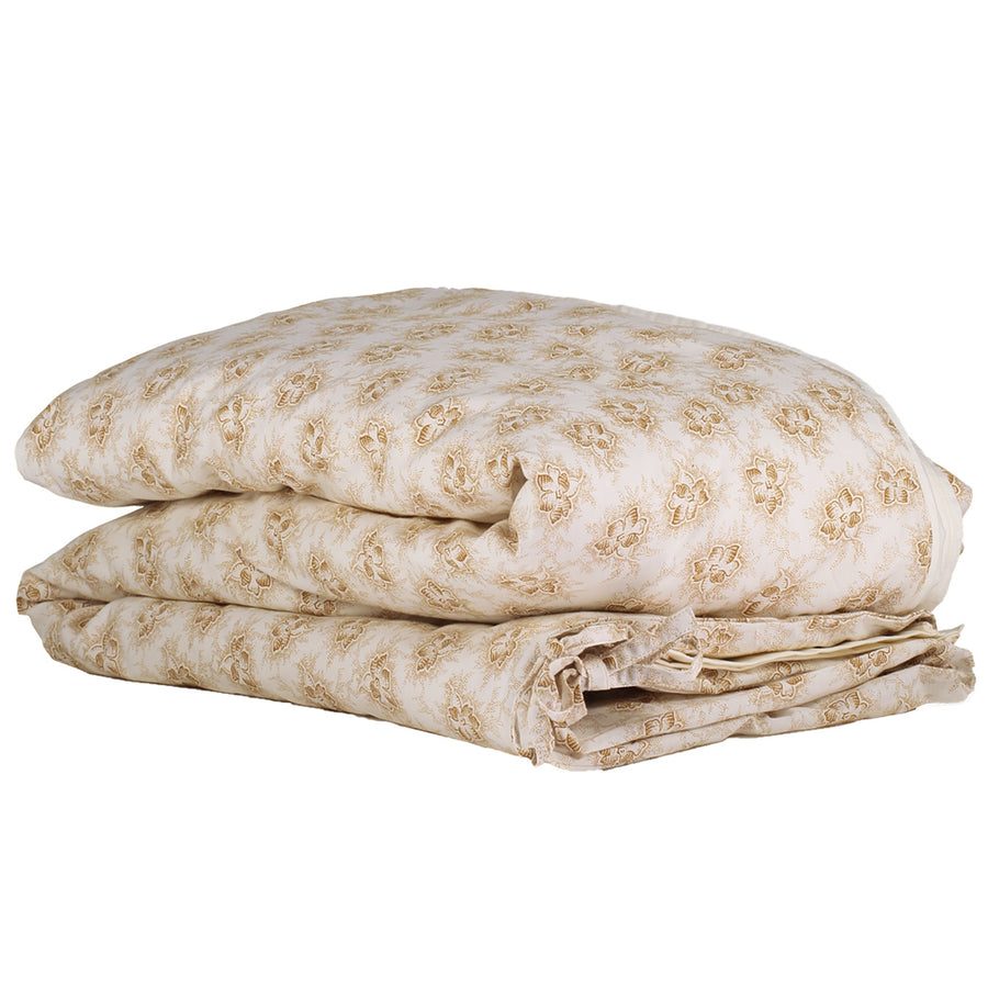 Double Quilt Cover in Floral Gold | Camomile London - Poeme Lifestyle