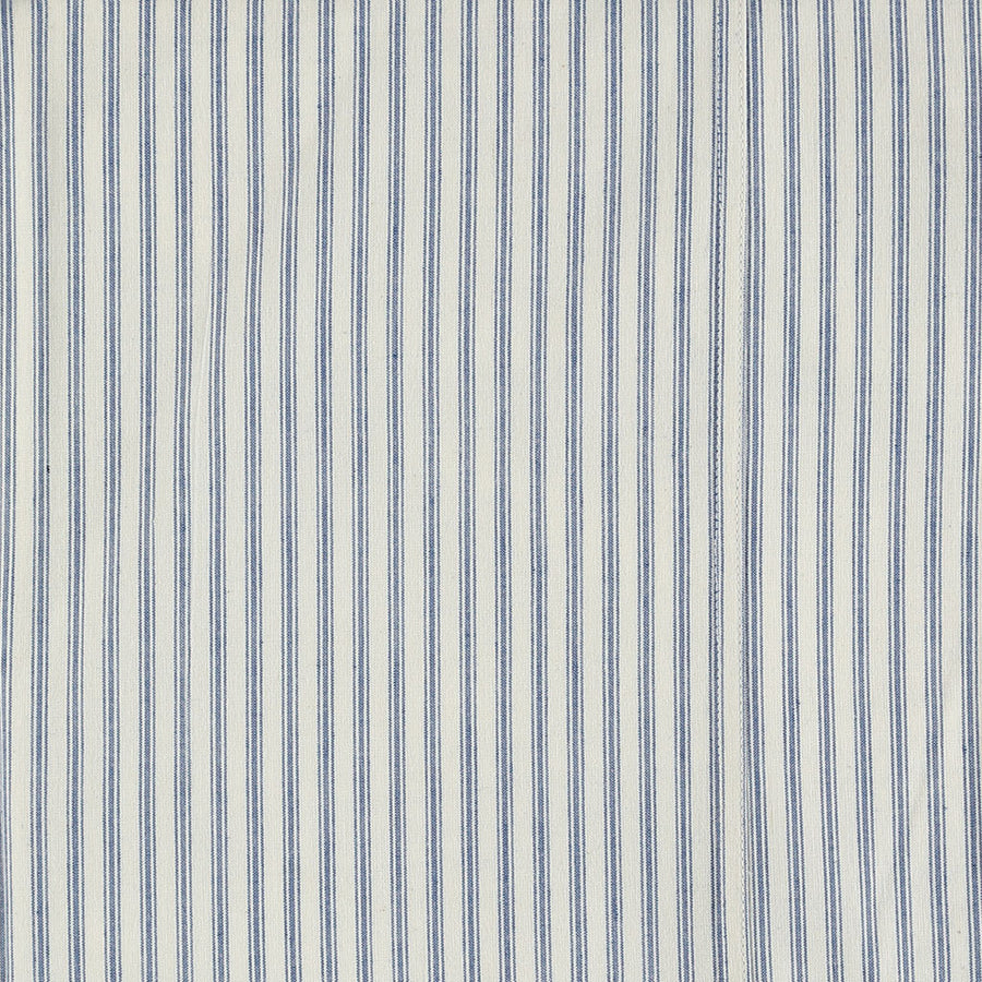 Cot Fitted Sheet - Ticking Blue