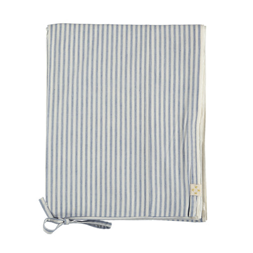 Single Quilt Cover in Blue Stripe | Camomile London - Poeme Lifestyle