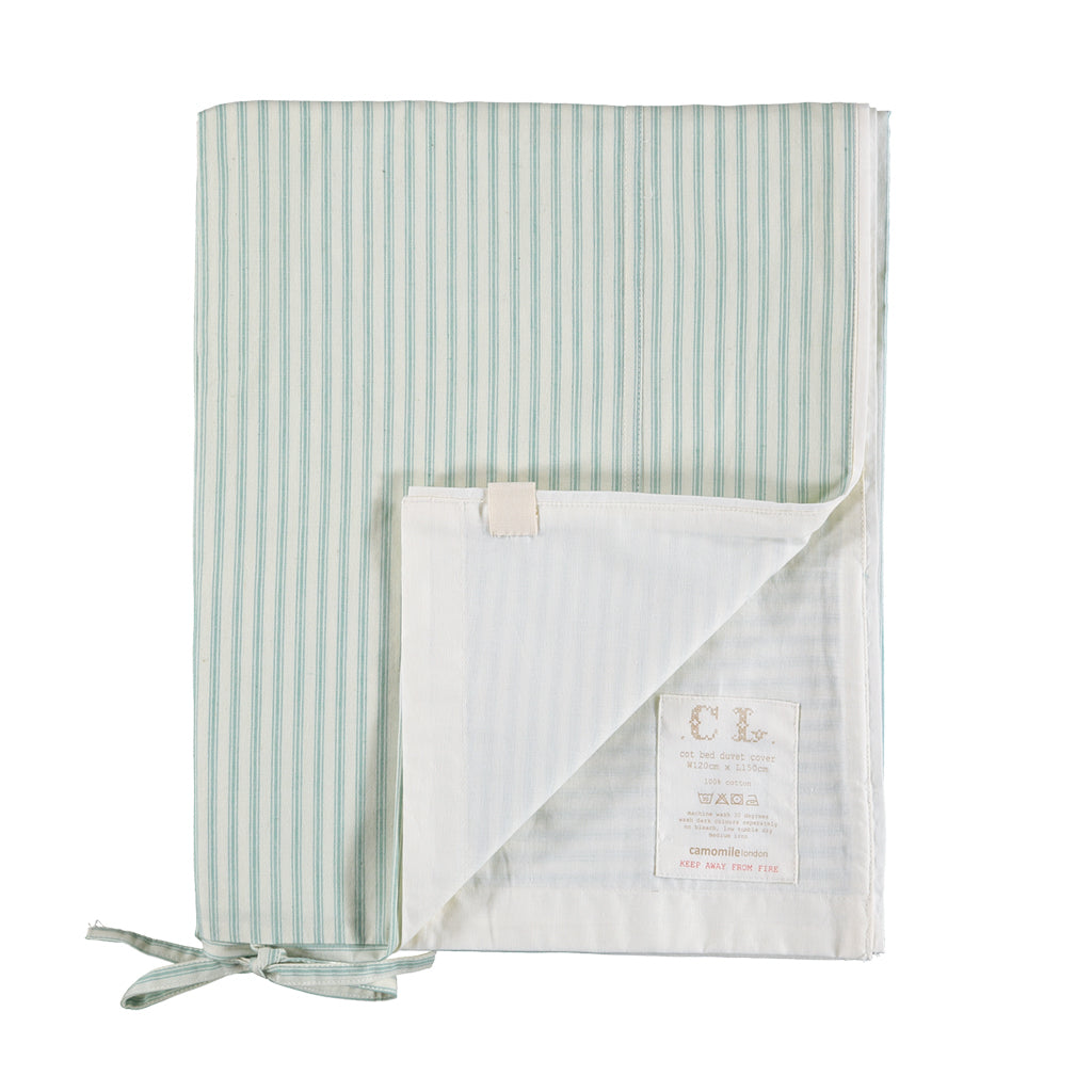 Single Quilt Cover, Marine Stripe | Camomile London - Poeme Lifestyle