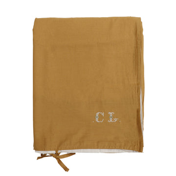 Single Quilt Cover in Gold/Stone | Camomile London - Poeme Lifestyle
