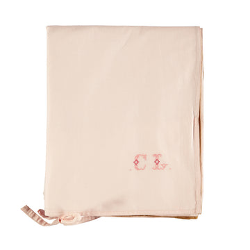 Cot Quilt Cover - Pink/Gold reversible