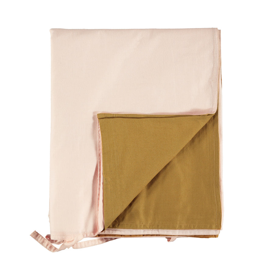 Single Quilt Cover in Pink/Gold | Camomile London - Poeme Lifestyle