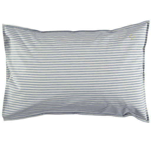 Standard Pillowcase -Ticking Blue