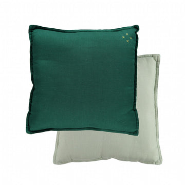 Small Cushion - Forest/Mint Reversible