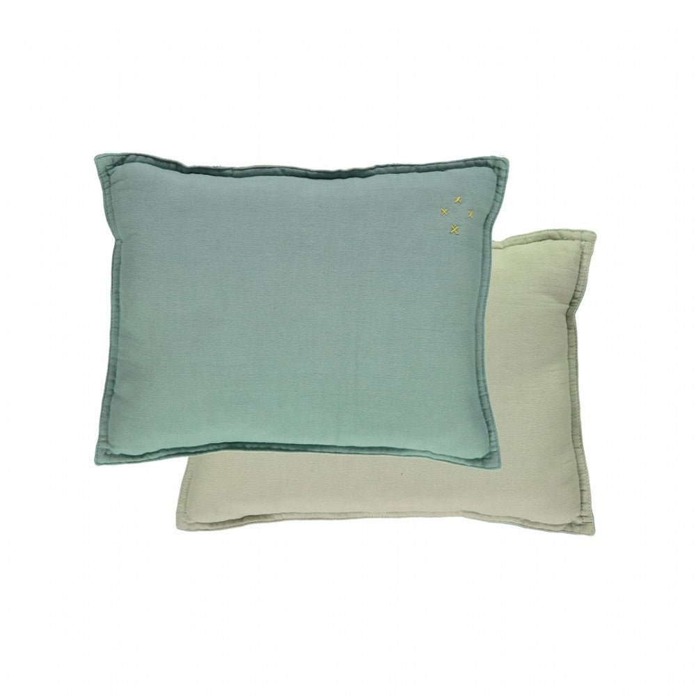 Small Cushion - Light Teal / Mint Reversible