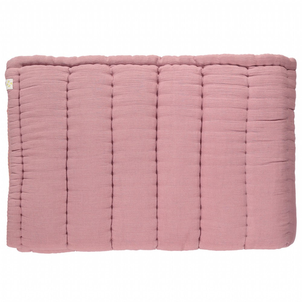 Single Hand Quilted Blanket - Blush