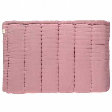 Camomile London Single Hand Quilted Blanket - Blush