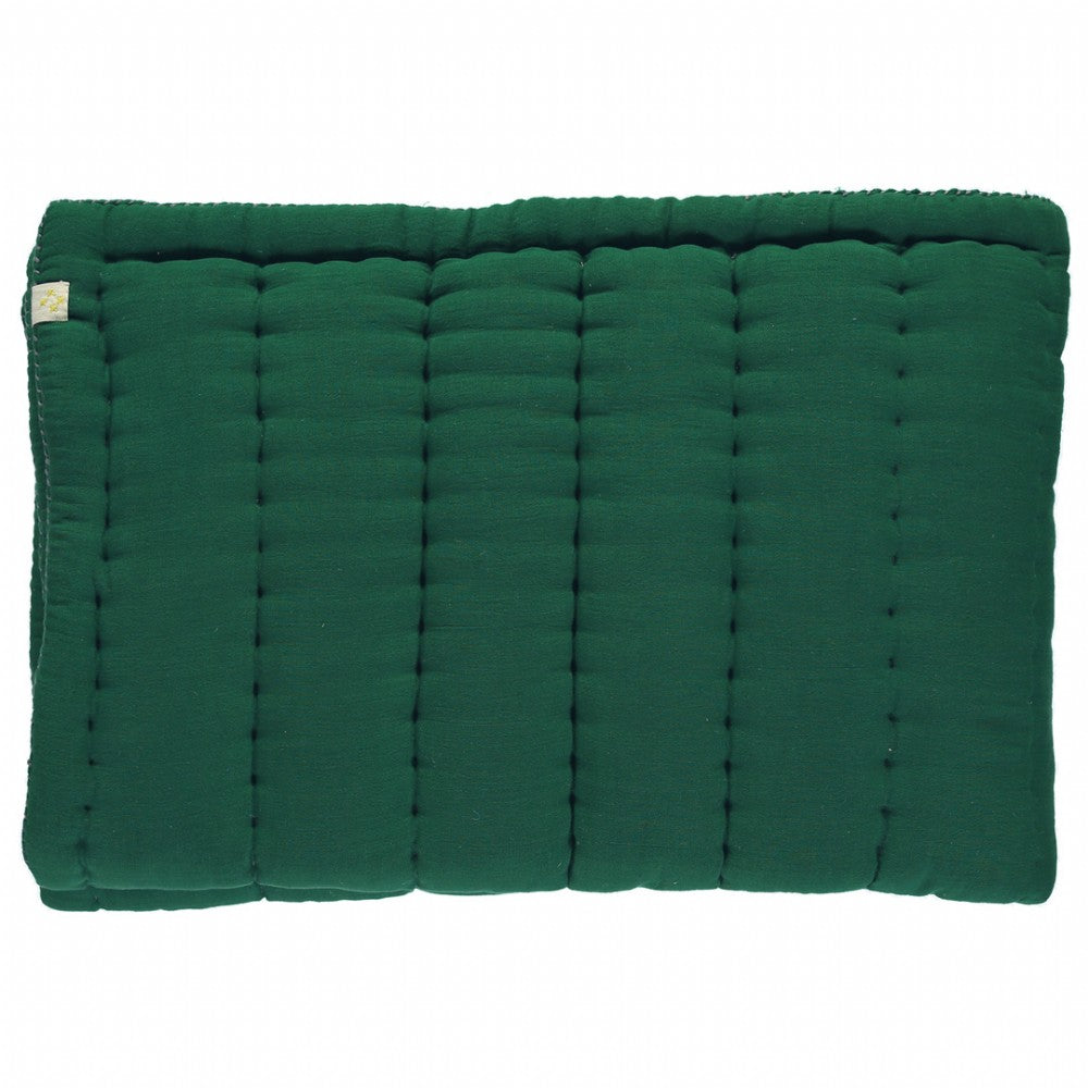 Cot Hand Quilted Blanket - Forest