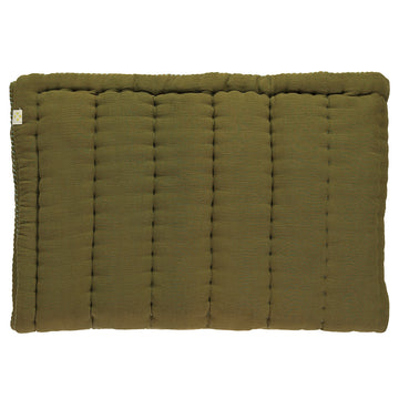 Camomile London Single Hand Quilted Blanket - Moss