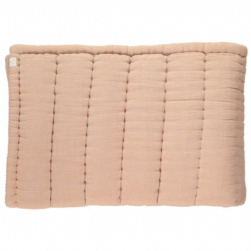 Cot Hand Quilted Blanket - Peach Blossom