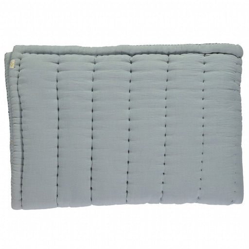 Cot Hand Quilted Blanket - Powder Blue
