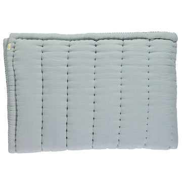 Camomile London Single Hand Quilted Blanket - Powder Blue