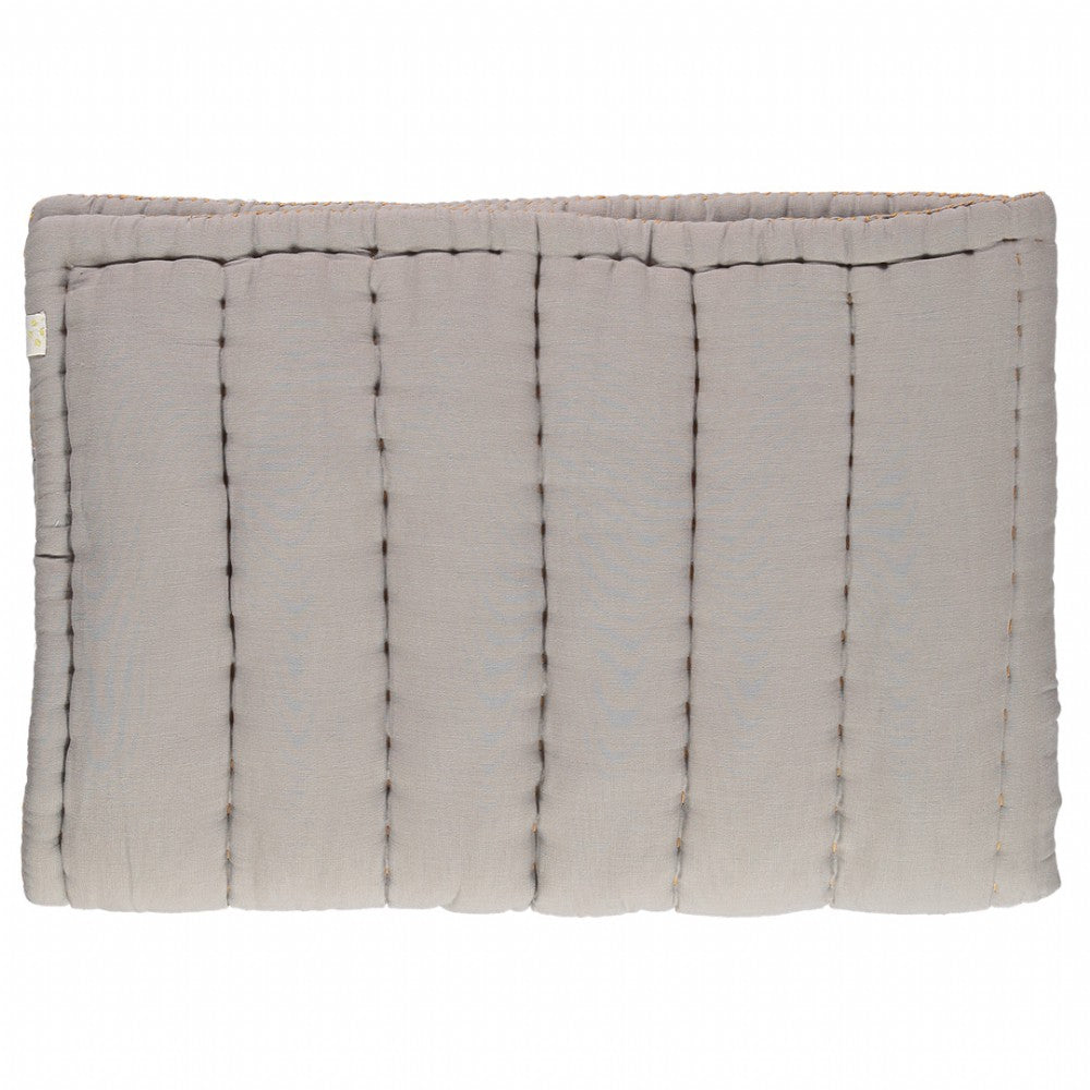 Cot Hand Quilted Blanket - Smoke Grey