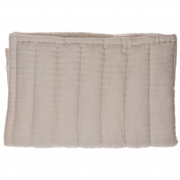 Camomile London Single Hand Quilted Blanket - Stone