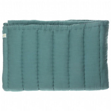 Camomile London Single Hand Quilted Blanket - Teal
