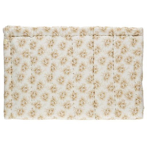 Single Hand Quilted Blanket - Spot Floral Gold
