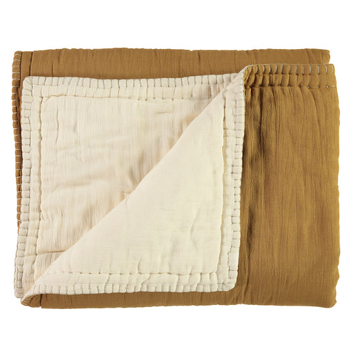 Single Reversible Blanket - Gold/Stone