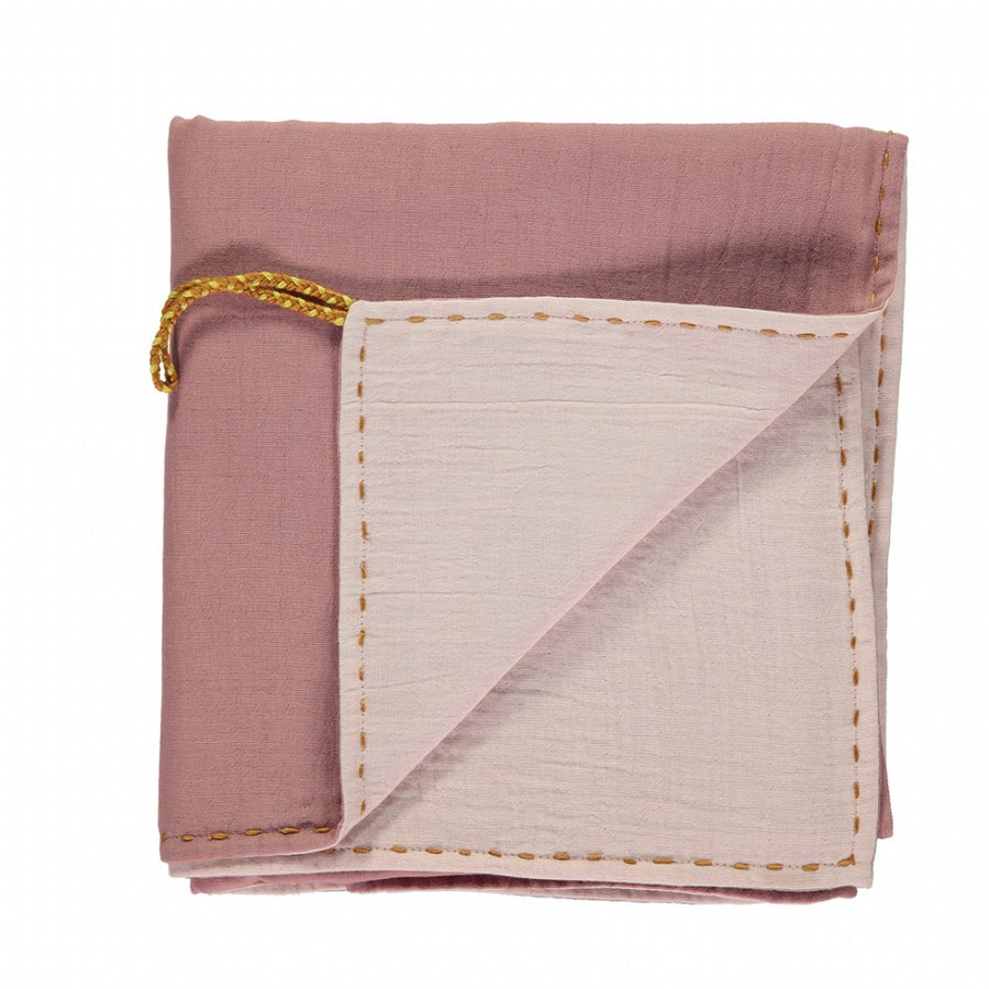 Swaddle / Blanket Double Layer - Blush/Powder Pink reversible