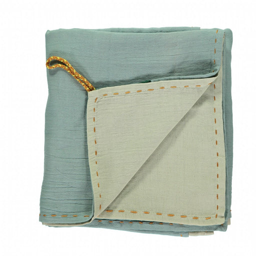Swaddle / Blanket Double Layer - Mint/Light Teal reversible