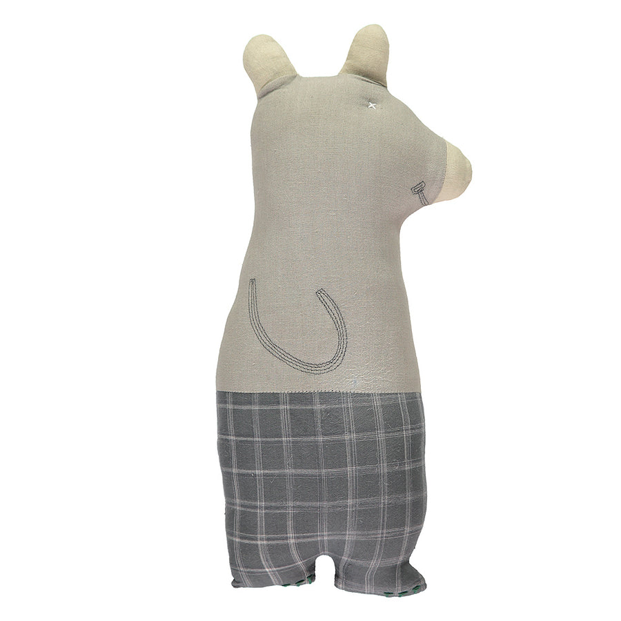 Poeme lifestyle sells cotton bear cushion by Camomile London online in Australia.