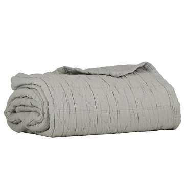 Single Diamond Blanket - Light Grey