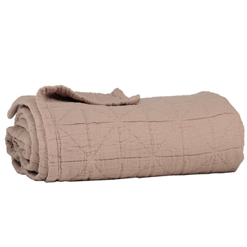 Large Cot Diamond Blanket - Dusty Pink
