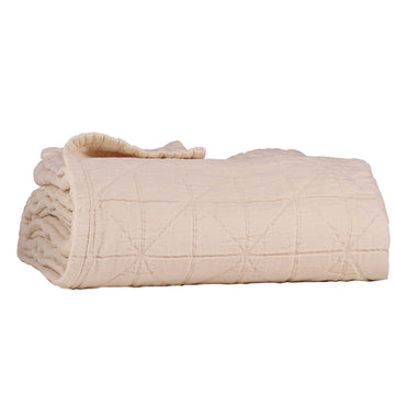 Large Cot Diamond Blanket - Powder Pink