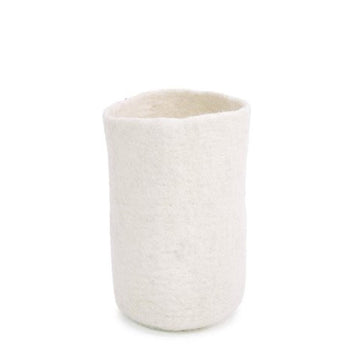 Felt Vase Cover Tall - Natural