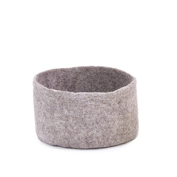 Felt Cover / basket - light stone