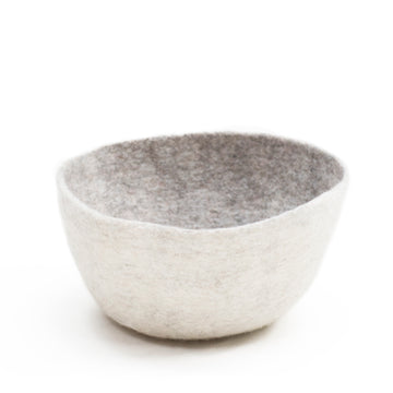 Reversible Calabash Bowl / Basket - Light stone